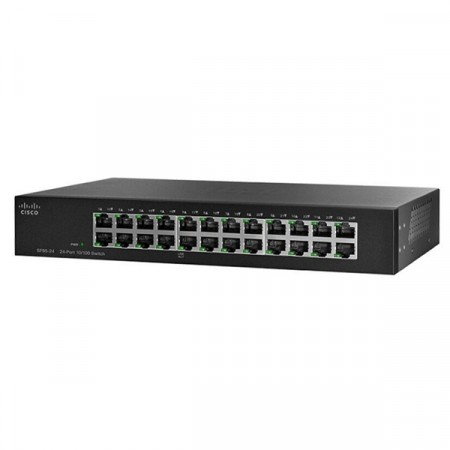 Cisco SF95-24 Switch 24-Port 10/100Mbps Unmanaged Rack-mount Switch