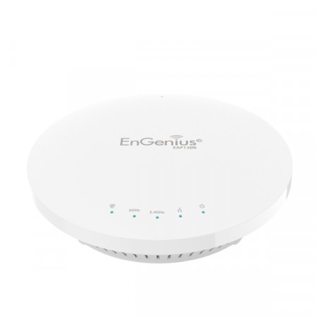 EnGenius EAP1300 EnTurbo 11ac Wave 2 Indoor Access Point  1.3Gbps, Quad-Core Processors, MU-MIMO&Beamforming, Ceileng-Mount
