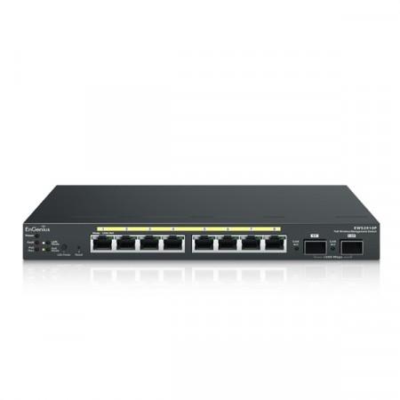 EnGenius EWS2910P 8-Port PoE Gigabit Wireless Controller Switch Managed +2-Port SFP, Total Budget 61.6W, Centralized Network Management, Desktop Model