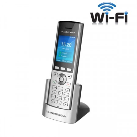 Grandstream WP820 Enterprise Portable WiFi Phone, 2 SIP accounts 2 lines, Dual-band WiFi, Rechargeable 1500mAh battery