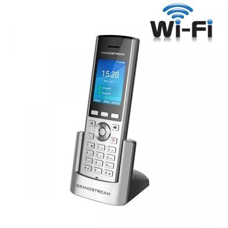 Grandstream WP820 Enterprise Portable WiFi Phone, 2 SIP accounts 2 lines, Dual-band WiFi, Rechargeable 1500mAh battery