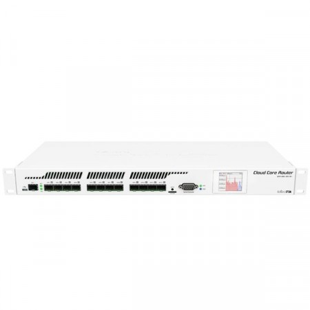 MikroTik CCR1016-12S-1S+ Cloud Core Router Industrial Grade 12xSFP cage, 1xSFP+ cage, CPU 16 cores 1.2GHz, RAM 2GB, RouterOS L6