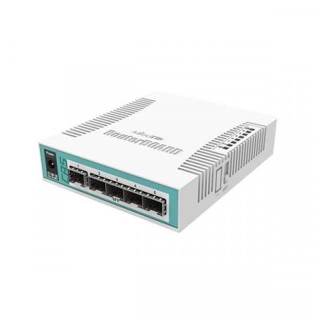 MikroTik CRS106-1C-5S Smart Switch 5-Port SFP, 1-Port combo (SFP or Gigabit Ethernet), CPU 400MHz, RAM 128MB, RouterOS L5