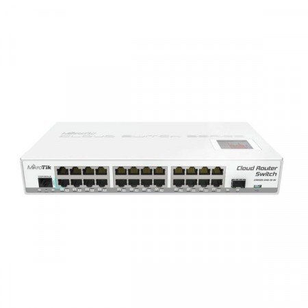 MikroTik CRS125-24G-1S-IN Cloud Router Switch 24-Port Gigabit Ethernet layer 3, 1-Port cage, CPU 600MHz, RAM 128MB, RouterOS L5