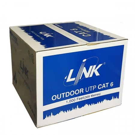 LINK US-9106PW CAT6 Outdoor UTP PE w/Power Wire Cable, Bandwidth 600MHz, CMX Black Color 305 M./Reel in Box *ส่งฟรีเขต กทม.