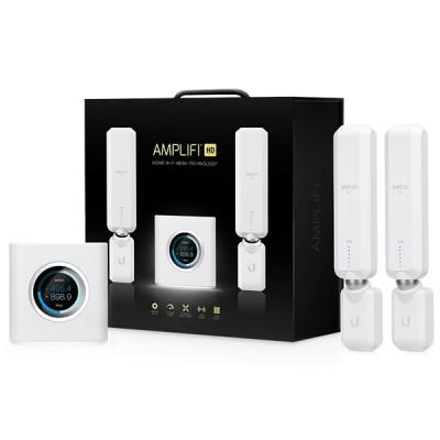 UBiQUiTi AmpliFi Mesh (AFi-HD) - N450/AC1300 Mbps Dual Band 2.4/5.0GHz 1 x AmpliFi HD Mesh Router + 2 x AmpliFi MeshPoint HD