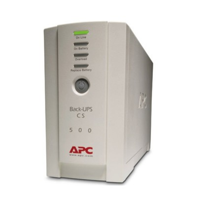 APC BK500EI UPS Back CS Uninterruptible Power Supply (300W/500VA), Surge Protection