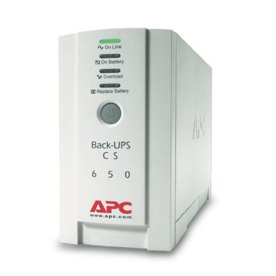 APC BK650-AS (CS 650VA) BACK-UPS CS 650VA, 400 Watts 220-230V, Battery Backup & Surge Protector for Electronics and Computers