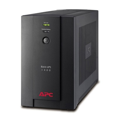 APC BX1400U-MS Back-UPS 1400VA/700W, 230V, AVR, 4xUniversal Receptacle Sockets and 2xIEC IEC 320 C13 Sockets