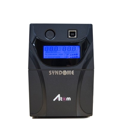 SYNDOME ATOM 600-LCD UPS 600VA/360W, Stabilizer, LCD Display, Universal Socket 4 Outlet (ส่งฟรีทั่วประเทศ)