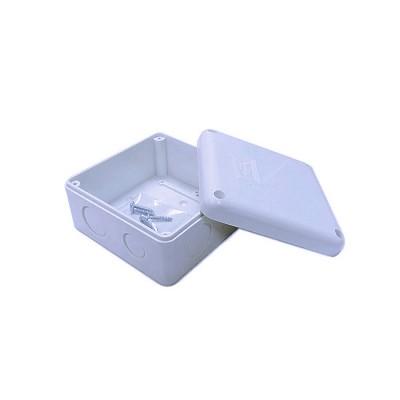 กล่องกันน้ำขนาด 4x4 นิ้ว พลาสติกสีขาว (Waterproof Plastic Box) สำหรับกล้องวงจรปิด