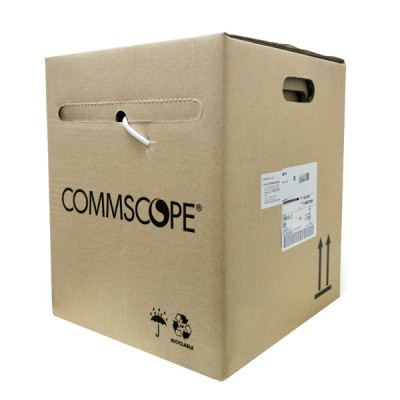 COMMSCOPE CB-0015 CAT 5E Indoor F/UTP Cable 24 AWG, Bandwidth 350MHz, CMR White Color 305 M./Pull Box *ส่งฟรีเขต กทม.