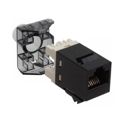 COMMSCOPE (AMP) AM-3600-02 (9-1375055-2) Modular Jack, RJ45, category 6, T568A/T568B, unshielded, without dust cover, bag of 24, black