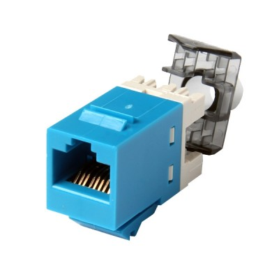 COMMSCOPE (AMP) AM-3600 (1375055-6) Modular Jack, RJ45, category 6, T568A/T568B, Unshielded, without dust cover, blue
