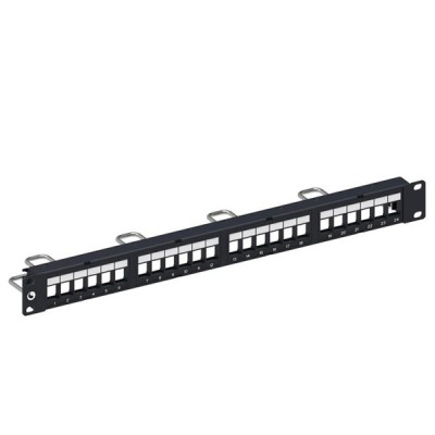 COMMSCOPE (AMP) AM-3024 (760237040) Discrete Distribution Module Panel, SL, UTP, 1U, 24 Port, Unload (Cat5e / Cat6 / Cat6A)