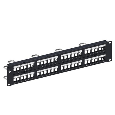 COMMSCOPE (AMP) AM-3048 (760237041) Discrete Distribution Module Panel, SL, UTP, 2U, 48 Port, Unload (Cat5e / Cat6 / Cat6A)