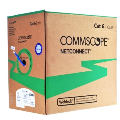 COMMSCOPE  884022314/10 (AMP CBC-0007) CAT 6 Indoor UTP Cable 23 AWG, Bandwidth 250MHz, CMR Blue Color 305 M./Pull Box *ส่งฟรีเขต กทม.