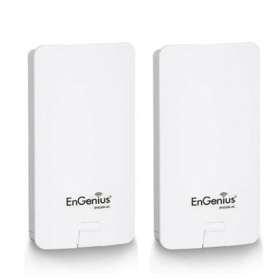 EnGenius ENS500-ACv2-SET Point-to-point 1-2 Km. EnTurbo Outdoor Long-Rang 11ac Wave 2 Ptp Bride, Speed 867Mbps 5GHz, 14dBi High-Gain Antennas