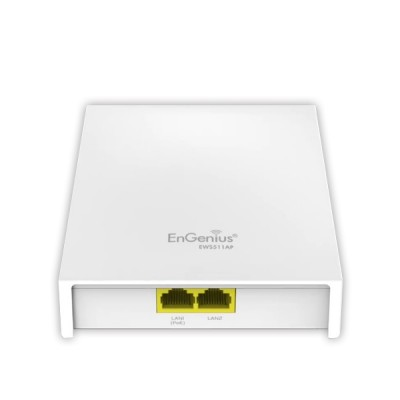 EnGenius EWS511AP Neutron Dual-Band AC750 Wireless Managed Wall-Plate Access Point, Speed 750Mpbs, 2 x LAN Port PoE Support