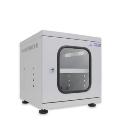 """19"""" GERMANY G6-30030 Mini Steel Box Rack W/Shelf, Gray (30x30x30cm)"""