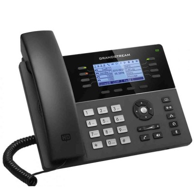 Grandstream GXP1782 Mid-Range IP phones 8 line with 4 SIP accouunt Dual 10/100Mbps, 200x80 Blacklit LCD Display HD, PoE & Gigabit Port