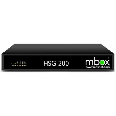 RansNet HSG-200 mbox HotSpot Gateway, 800 Concurrent Users, 4GB RAM, 4-Port Gigabit Interface