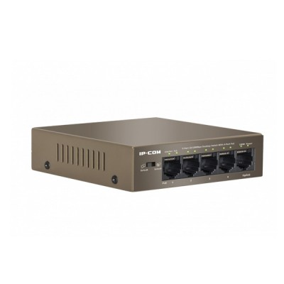 IP-COM F1105P 4-63W PoE Switch 5-Port 10/100Mbps with 4-Port PoE, 1-Port Uplink, Power 63.7W