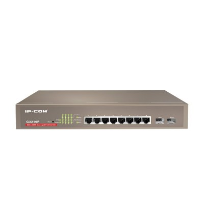 IP-COM G3210P Manage PoE Switch 8-Port Gigabit, 2-Port SFP, Total Power 115W 802.3af/at, Web managemet