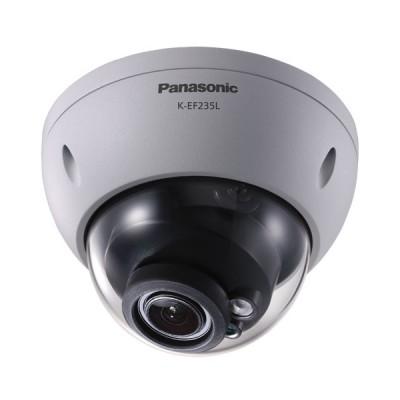 Panasonic K-EF235L01E IP Camera Dome, Full HD 2 Megapixel 1080p, Lens 2.7-13.5 mm. Weatherproof with IR LED
