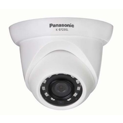 Panasonic K-EF235L03E IP Camera Dome, Full HD 2 Megapixel 1080p, Lens 3.6 mm. Weatherproof with IR LED