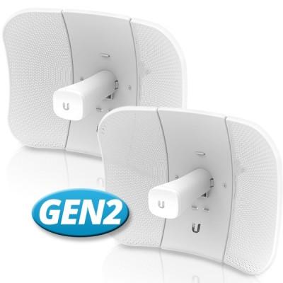 Ubiquiti LBE-5AC-Gen2-SET Point-to-point WiFi Link 3-5Km. airMAX Management 802.11ac, Freq 5GHz Hi-Speed 450+Mbps, Power 25dBm, Ant 23dBi 2x2MIMO, Configuration ready