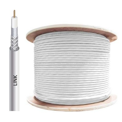 LINK CB-0109 RG 6/U Cable White Jacket, 60% Shield STANDARD 300m./Pull Box.