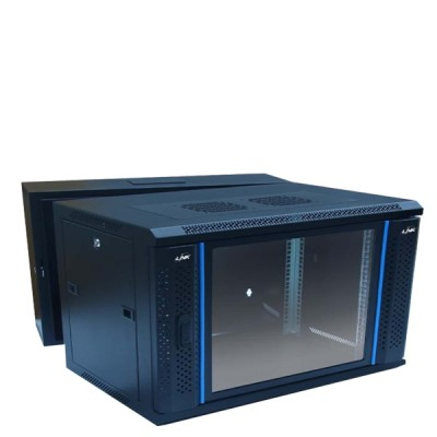 "LINK CW2-60506G 19"" Glass Wall Rack 6U (60x50x37cm) *ส่งฟรีเขต กทม."