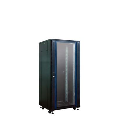"""Link CH-60827GS 19"""" Glass Rack 27U, (60 x 80 x 140 cm.) Black *ส่งฟรีเขต กทม.และปริมณฑล"""