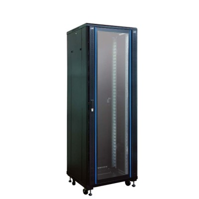 """Link CH-60642GW 19"""" Wave Rack 42U, (60 x 60 x 207 cm.) Black *ส่งฟรีเขต กทม.และปริมณฑล"""