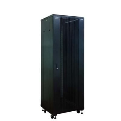 """Link CH-60842CW 19"""" Curve Wave Rack 42U, (60 x 80 x 207 cm.) Black *ส่งฟรีเขต กทม.และปริมณฑล"""
