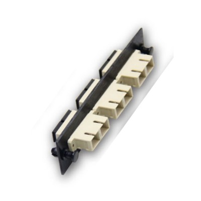 Link UF-2166 Fiber Optic 3 SC Duplex Snap-In Adapter Plate (MM.)