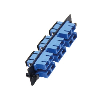 Link UF-2266SM Fiber Optic 6 SC Duplex Snap-In Adapter Plate (SM & MM.)
