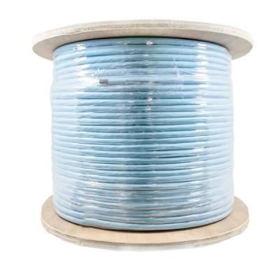 LINK US-9256LSZH CAT6A Indoor U/FTP Cable, Bandwidth 500MHz, 23 AWG, LSZH, Aqua Blue Color 305 M./Roll *ส่งฟรีเขต กทม.