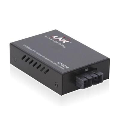 Link UT-0216-SM30 MINI Fiber Optic Media Converter RJ45/SC (SM.) 10/100 Mbps, Distance 30 km. (Indoor Only)