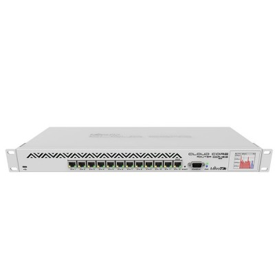 MikroTik CCR1016-12G Cloud Core Router Industrial Grade 12-Port Gigabit Ethernet, CPU 16 cores 1.2GHz, RAM 2GB, RouterOS L6