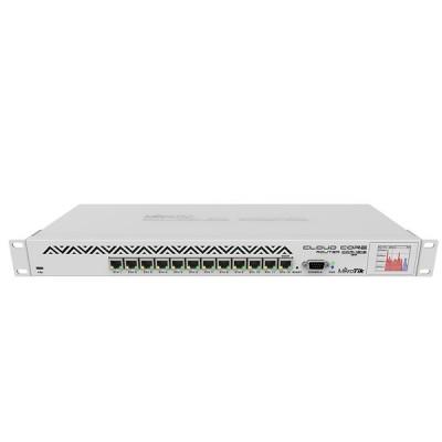 MikroTik CCR1016-12G Cloud Core Router Industrial Grade 12-Port Gigabit Ethernet, CPU 16 cores 1.2GHz, RAM 2GB, RouterOS L6