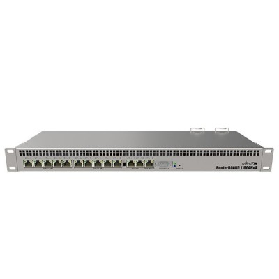 MikroTik RB1100AHx4 Router 13-Port Gigabit Ethernet, 1U rackmount, Dual Power Supply, RouterOS L6
