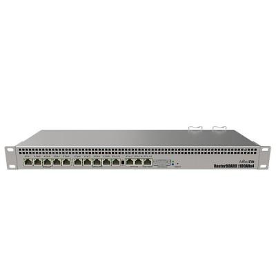 MikroTik RB1100AHx4 Router 13-Port Gigabit Ethernet, 1U rackmount, Dual Power Supply, RouterOS L6