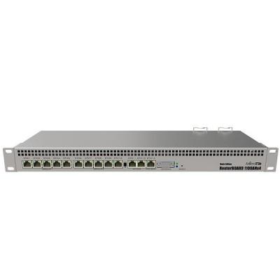MikroTik RB1100AHx4 Dude Edition, Router 13-Port Gigabit Ethernet 60GB M.2 drive for Dude database, 1U rackmount
