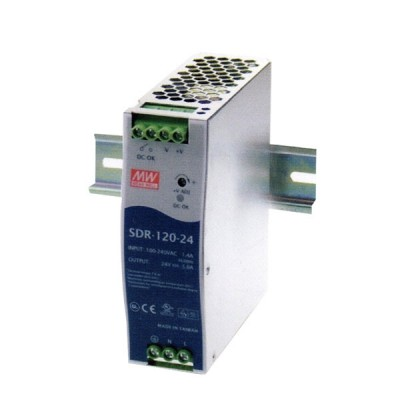 Link PS-9112 DC Power Supply 120 W. 48 V, Industrial DIN Rail, w/PFC Funtion (for Industiral PoE Switch)