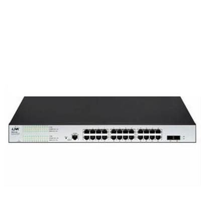 Link PSG-5124 Manged Switch L2 PoE 24-Port Gigabit Ethernet (400W), 24 GE (PoE) + 2 SFP (GE)