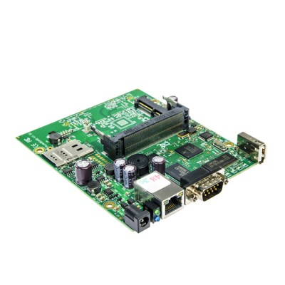 RB411U : RouterOS Level 4, 1 Serial Port, 1MiniPCI-e slots, 1USB 2.0