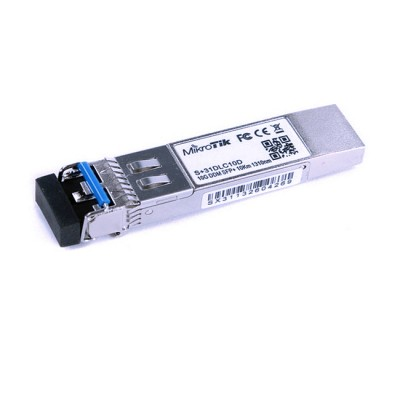 S+31DLC10D : SFP Transceiver 10G, 1310 nm Dual LC connector, 10,000 meter Single-Mode Fiber Connection with DDMI