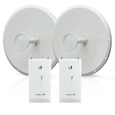Ubiquiti R5AC-Lite-RD-5G30-SET Point-to-point WiFi Link 15-20Km. 5GHz airMax AP 500+Mbps and RocketDish 30dBi Antenna